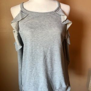 Gray Cold Shoulder Sweater size L